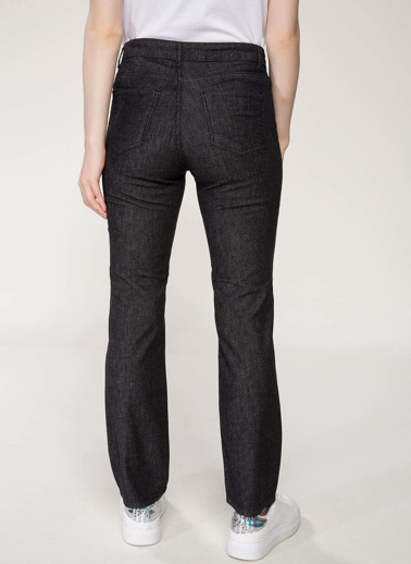 DeFacto Regular Fit Denim Pantolon Siyah